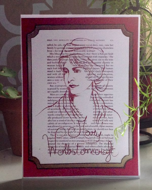 Mary Wollstonecraft feminist greeting card