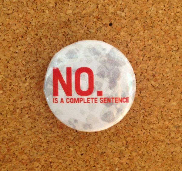NO is a complete sentence badge