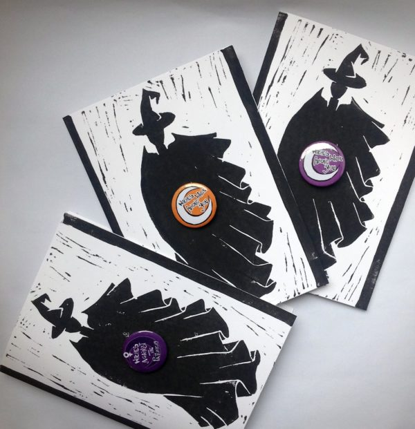 Witch cards and badges