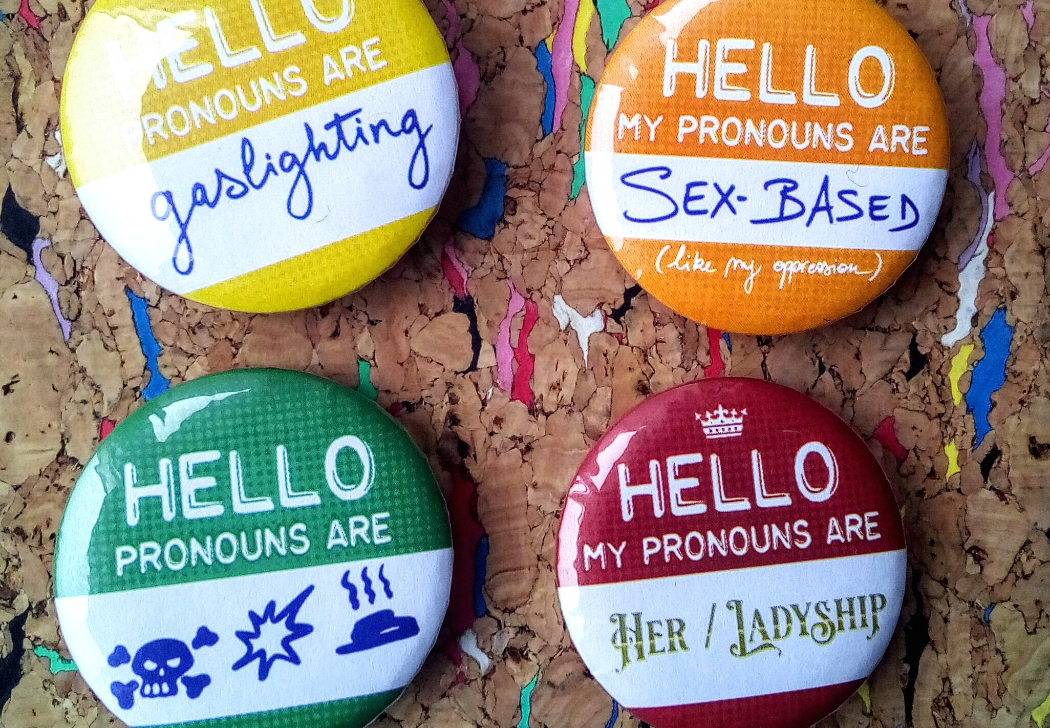 How to deal this the #pronouns question