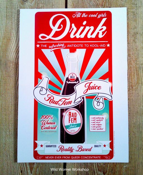 wild womyn workshop - radfem juice poster