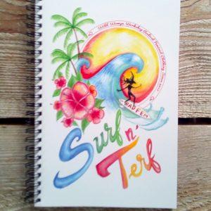 Wild Womyn Workshop Surf N' Terf notebook